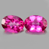 2.78 Ct. Oval Shape Natural Gemstone Clean Pink Topaz Matching Pair