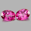 2.72 Ct. Oval Shape Natural Gemstone Clean Pink Topaz Matching Pair