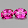 2.89 Ct. 2 Pcs. Oval Shape Natural Gemstone Clean Pink Topaz From Brazil