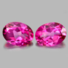 3.14 Ct. Oval Shape Matching Pair Natural Gemstone Clean Pink Topaz  From Brazil