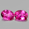 2.83 Ct. Oval Shape Matching Pair Natural Gemstone Clean Pink Topaz  From Brazil