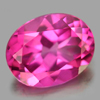 2.23 Ct. Oval Shape 9 x 7.1 Mm. Natural Gemstone Clean Pink Topaz From Brazil
