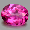 2.25 Ct. Oval Shape 9.1 x 7.1 Mm. Natural Gemstone Clean Pink Topaz From Brazil