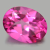 2.22 Ct. Oval Shape 9.2 x 7 Mm. Natural Gemstone Clean Pink Topaz From Brazil