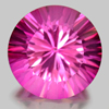 4.41 Ct. Round Concave Cut Natural Gemstone Pink Topaz From Brazil