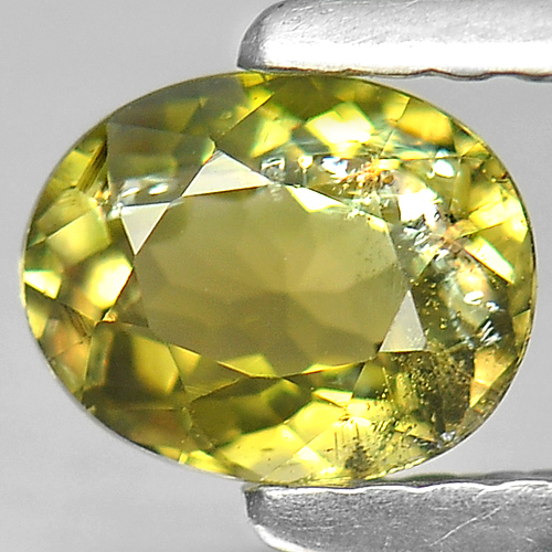 0.60 Ct. Fabulous Oval Natural Lime Green Tourmaline