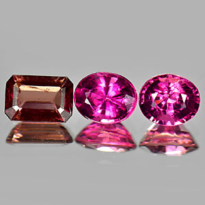 2.53 Ct. 3 Pcs. Natural Pink Tourmaline Unheated Gems