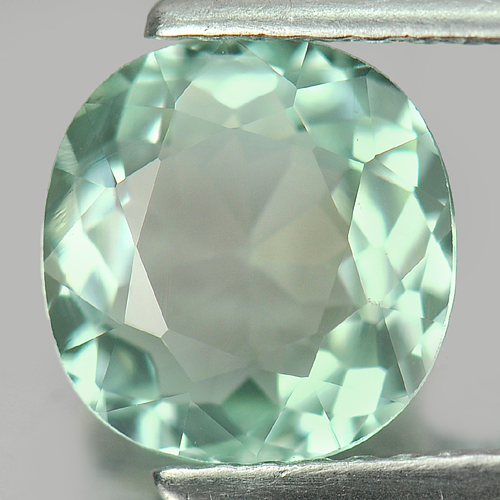 1.74 Ct. Cushion Shape Gem Natural Clean Light Green Tourmaline From Mozambique