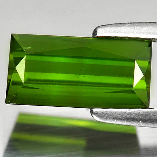 1.43 Ct. Natural Green Tourmaline Gemstone Baguette Shape Unheated