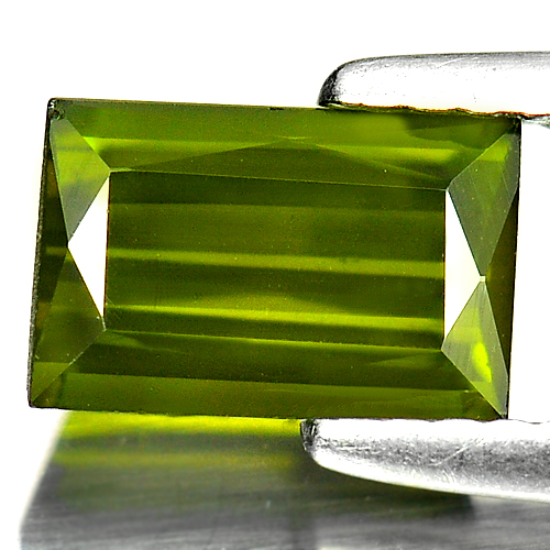 1.12 Ct. Natural Green Tourmaline Gemstone Baguette Shape Unheated