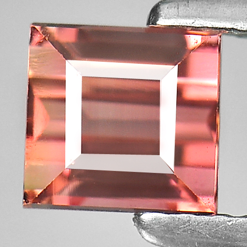 1.17 Ct. Baguette Natural Gem Pinkish Orange Tourmaline Unheated