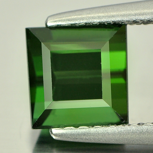 1.54 Ct. Natural Gemstone Green Tourmaline Square Shape