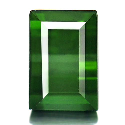1.65 Ct. Natural Gemstone Green Tourmaline Baguette Shape Unheated