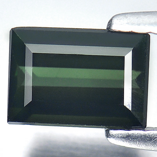 1.15 Ct. Baguette Shape Natural Green Tourmaline Unheated