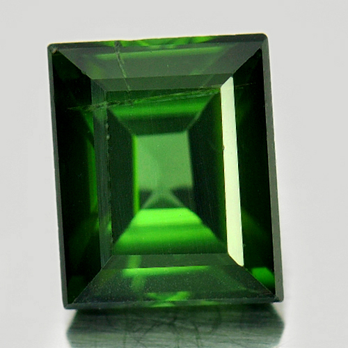1.53 Ct. Natural Gemstone Green Tourmaline Baguette Shape Unheated