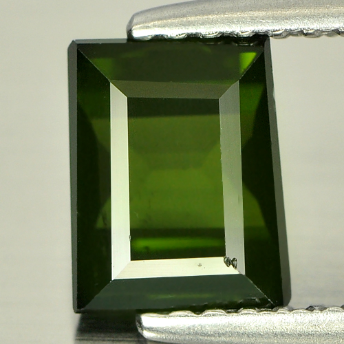 1.38 Ct. Natural Gemstone Green Tourmaline Baguette Shape Unheated