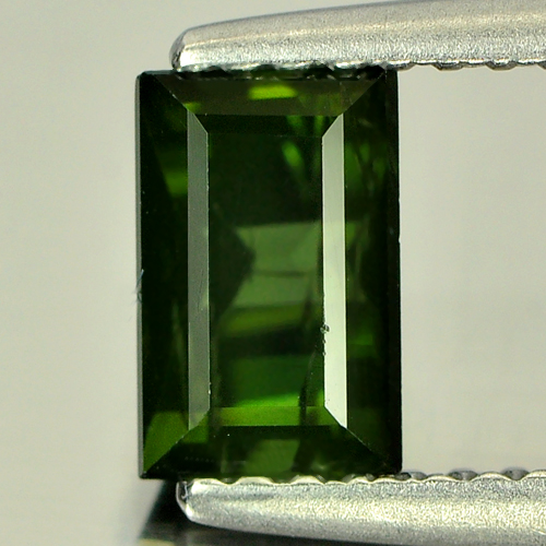 1.03 Ct. Natural Gemstone Green Tourmaline Baguette Shape Unheated