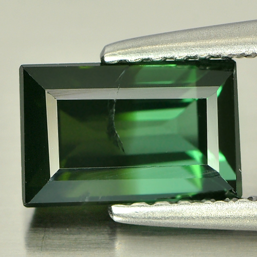 1.70 Ct. Baguette Shape Natural Gemstone Green Tourmaline Unheated