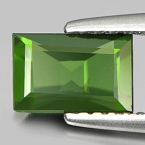 0.91 Ct. Natural Gemstone Green Tourmaline Baguette Shape Unheated
