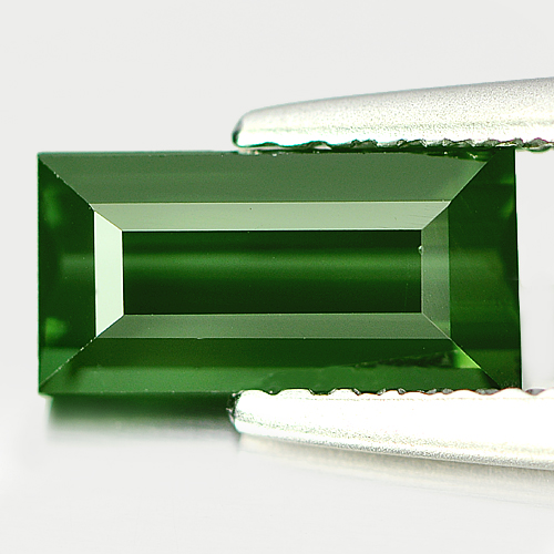 1.11 Ct. Baguette Shape Natural Green Tourmaline Gemstone Nigeria