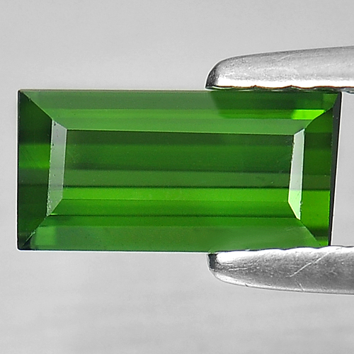 1.17 Ct. Clean Baguette Shape Natural Green Tourmaline Unheated