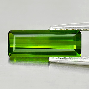 0.97 Ct. Beautiful Gems Natural Green Tourmaline Octagon Shape
