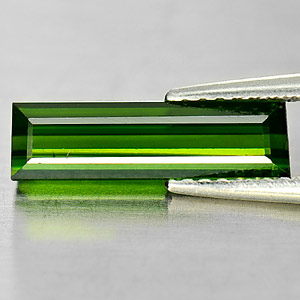 1.69 Ct. Clean Natural Gem Baguette Green Tourmaline Nigeria