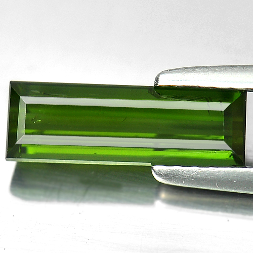 1.56 Ct. Natural Baguette Shape Green Tourmaline Unheated