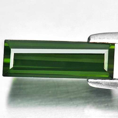 1.52 Ct. Natural Baguette Shape Green Tourmaline Unheated