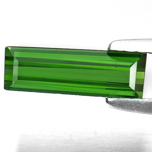 1.05 Ct. Natural Gem Green Tourmaline Baguette Shape