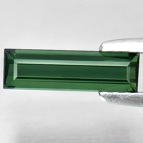 0.88 Ct. Natural Green Tourmaline Gemstone Baguette Shape Unheated