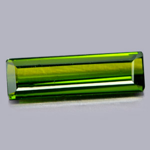 1.25 Ct. Baguette Shape Natural Gemstone Green Tourmaline Unheated