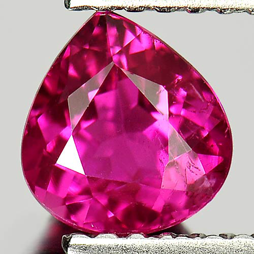 0.84 Ct. Pear Shape 6.5 x 6 Mm. Natural Gemstone Pink Tourmaline Unheated