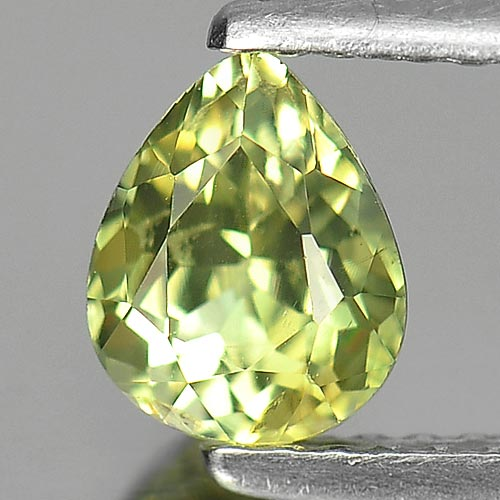 0.82 Ct. Pear Natural Gem Green Tourmaline From Nigeria