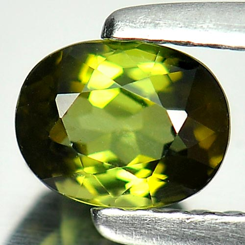 0.58 Ct. Beauteous Oval Natural Gem Green Tourmaline From Nigeria