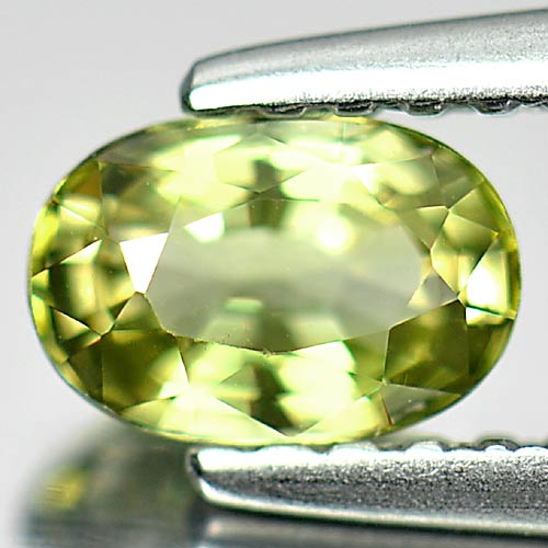 0.55 Ct. Calibrate Size 6 x 4 Mm. Oval Natural Gem Yellow Green Tourmaline