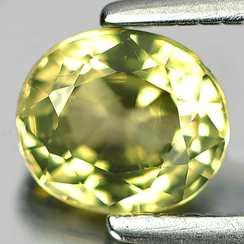 0.62 Ct. Beauteous Oval Natural Gem Greenish Yellow Tourmaline Unheated