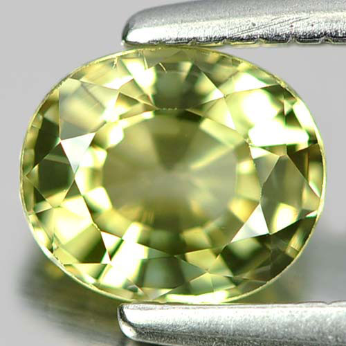 0.53 Ct. Good Color Oval Natural Gem Greenish Yellow Tourmaline