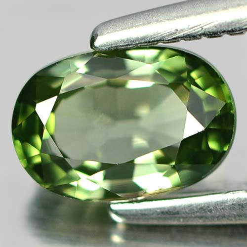 0.57 Ct. Attractive Oval Natural Gem Green Tourmaline Unheated