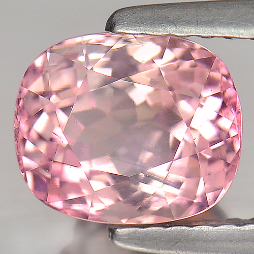2.15 Ct. Nice Color Pink Cushion Natural Tourmaline Gem Unheated Nigeria