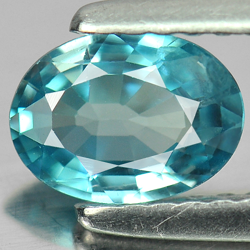 0.82 Ct. Charming Oval Natural Blue Zircon Cambodia Gem