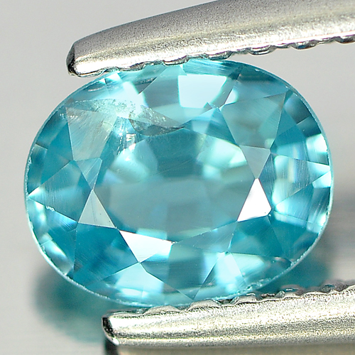 0.86 Ct. Spectacular Oval Natural Blue Zircon Cambodia