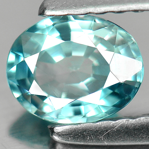 0.88 Ct. Wonderful Oval Natural Blue Zircon Cambodia