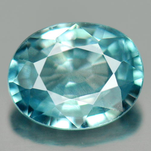 0.85 Ct. Captivating Oval Natural Blue Zircon Cambodia