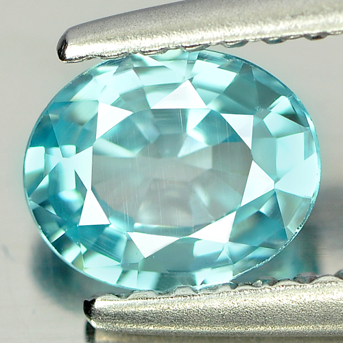 0.88 Ct. Finely Cut Clean Natural Blue Zircon Cambodia