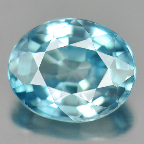 0.87 Ct. Spectacular Clean Natural Blue Zircon Cambodia