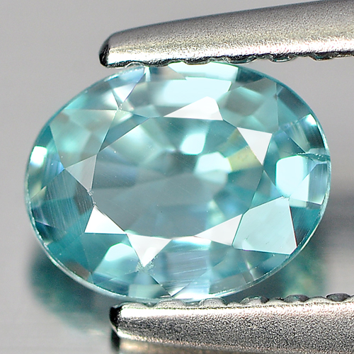 0.77 Ct. Charming Clean Natural Blue Zircon Cambodia