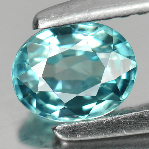 0.89 Ct. Finely Cut Oval Natural Blue Zircon Cambodia