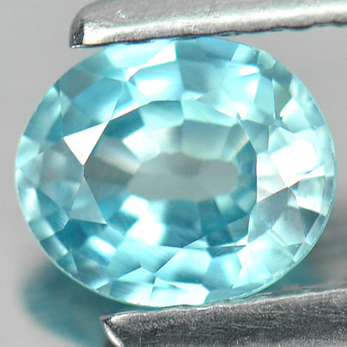 0.89 Ct. Beautiful Clean Oval Natural Blue Zircon