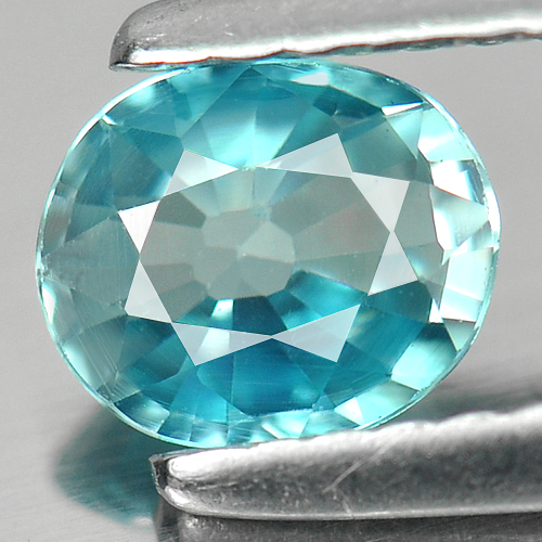0.80 Ct. Intense Oval Natural Blue Zircon Cambodia Gem